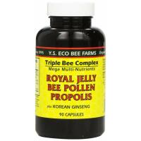 Y.S. Eco Bee Farms, Royal Jelly, Bee Pollen, Propolis, Plus Korean Ginseng - 90 Capsules