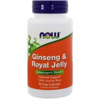 Now Foods, Ginseng & Royal Jelly - 90 Veg Capsules