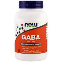 Now Foods, GABA, 500 mg - 200 Veg Capsules