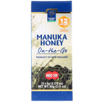 Manuka Health, Manuka Honey On-The-Go, MGO 100+, 12 Packets - 0.176 oz (5 g Each)