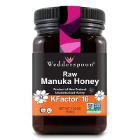 Wedderspoon, 100% Raw Manuka Honey, KFactor 16 - 17.6 oz (500 g)