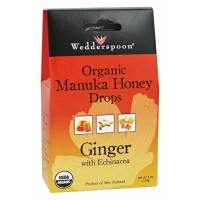 Wedderspoon, Organic Manuka Honey Drops, Ginger with Echinacea - 4 oz (120 g)