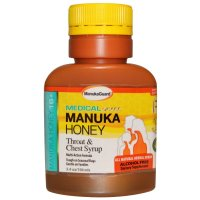 Manuka Guard, Manuka Honey 16+, Throat & Chest Syrup, Alcohol Free - 3.4 oz (100 ml)
