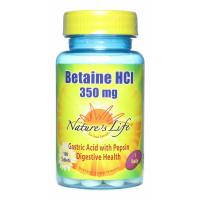 Nature's Life, Betaine HCL, 350 mg - 100 Tablets