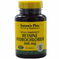 Nature's Plus, Betaine Hydrochloride, 600 mg - 90 Tablets