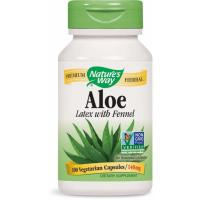 Nature's Way, Aloe, Latex With Fennel, 140 mg - 100 Veggie Caps