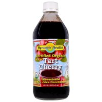 Dynamic Health  Laboratories, Certified Organic, Tart Cherry 100% Juice Concentrate, Unswe