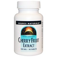 Source Naturals, Cherry Fruit Extract, 500 mg - 90 Tablets