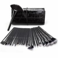 USCY, Cosmetic Make-Up Brush Set  - 32 Pieces with Travel Pouch