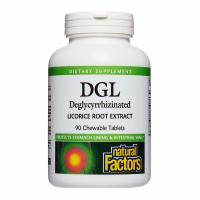 Natural Factors, DGL, Deglycyrrhizinated Licorice Root Extract - 90 Chewable Tablets