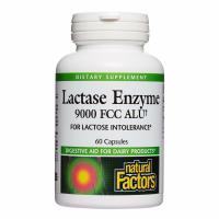 Natural Factors, Lactase Enzyme, 9000 FCC ALU - 60 Capsules