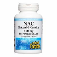 Natural Factors, NAC, N-Acetyl-L Cysteine, 500 mg - 90 Vegetarian Capsules