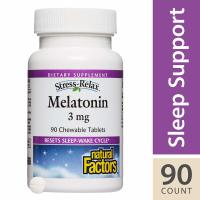 Natural Factors, Stress-Relax, Melatonin, 3 mg - 90 Chewable Tablets