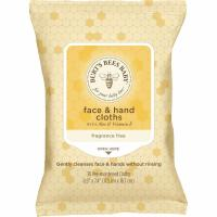 Burt's Bees, Baby Bee Face & Hand Cloths, Fragrance Free - 30 Count
