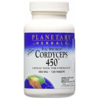 Planetary Herbals, Cordyceps 450, Full Spectrum, 450 mg - 120 Tablets