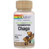 Solaray, Organically Grown Fermented Chaga, 500 mg - 60 VegCaps