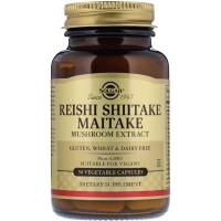 Solgar, Reishi Shiitake Maitake Mushroom Extract - 50 Vegetable Capsules