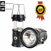 ZGT, Solar Rechargeable Led Camping Lantern, 3-in-1