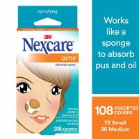 Nexcare, Acne Absorbing Cover, Two Sizes - 108 Count