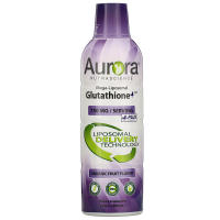 Aurora Nutrascience, Mega-Liposomal Glutathione+, Plus Vitamin C, Organic Fruit Flavor, 75