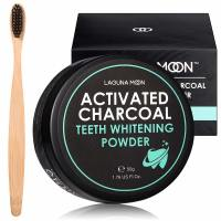 YWTW, Natural Teeth Brite  Charcoal Powder with Bamboo Brush - 1.76 oz. (50 gr)