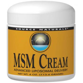 Source Naturals, MSM Cream - 4 oz (113.4 g)