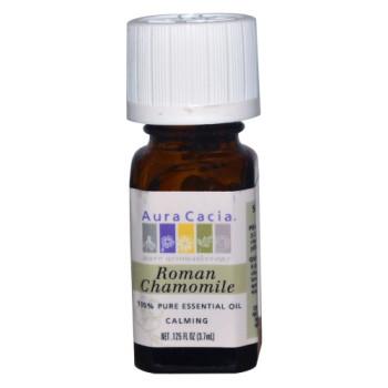 Aura Cacia, 100% Pure Essential Oil, Roman Chamomile - 0.125 fl oz (3.7 ml)
