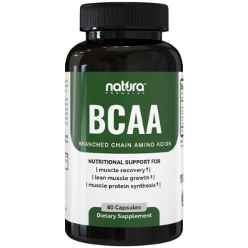 Natura Formulas, BCAA (Branched Chain Amino Acids) for Muscle Recovery - 60 Capsules