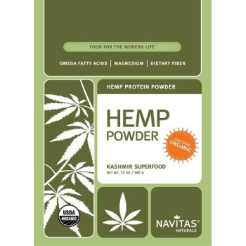 Navitas Naturals, Organic Raw Hemp Protein Powder - 12 oz (340 g)