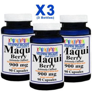 Vita Bec, Maqui Berry Super Antioxidant, 900 mg - 90 Caps X (3 Bottles)
