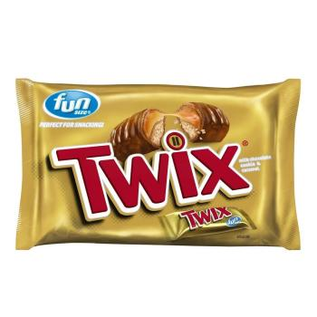 Twix Fun Size Caramel And Chocolate Cookie Bars 1083 Oz 307 G