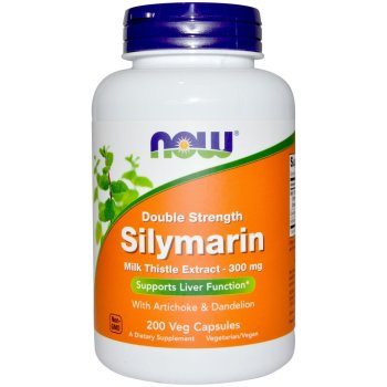 Now Foods, Silymarin, Milk Thistle Extract with Artichoke & Dandelion, Double Strength, 300 mg - 200 Veg Capsules