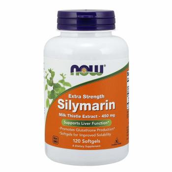 Now Foods, Silymarin, Milk Thistle Extract, Extra Strength, 450 mg - 120 Softgels