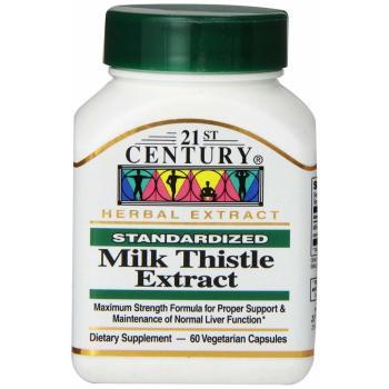 21st Century, Milk Thistle Extract - 60 Veggie Caps