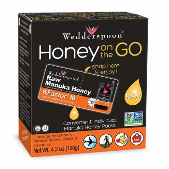 Wedderspoon, Honey On The Go, KFactor 16 - 24 Packs (5 g Each)