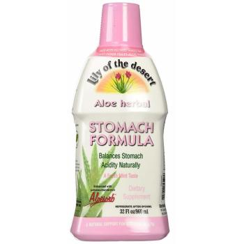 Lily of the Desert, Aloe Herbal Stomach Formula, Mint - 32 fl oz (946 ml)