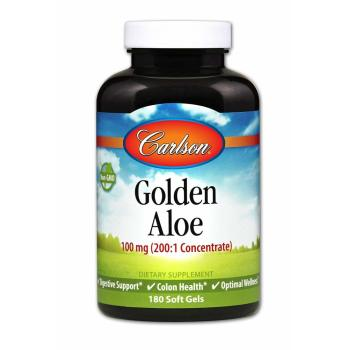 Carlson Labs, Golden Aloe, 100 mg - 180 Soft Gels