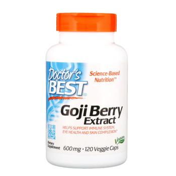 Doctor's Best, Goji Berry Extract, 600 mg - 120 Veggie Caps