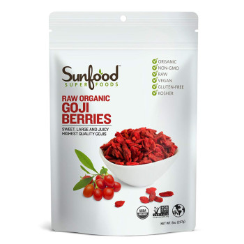 Sunfood, Sun-Dried Goji Berries - 8 oz (227 g)