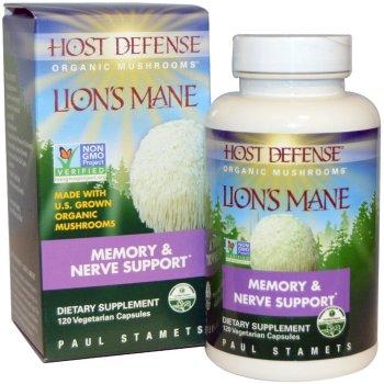 Fungi Perfecti, Host Defense, Lion's Mane, Memory & Nerve Support - 120 Veggie Caps