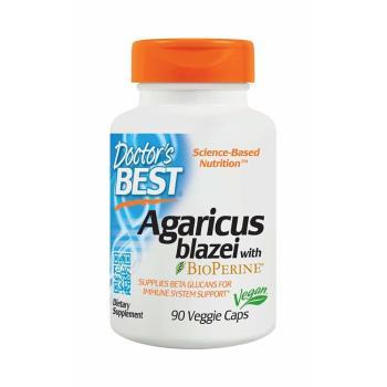 Doctor's Best, Agaricus Blazei With Bioperine - 90 Veggie Caps
