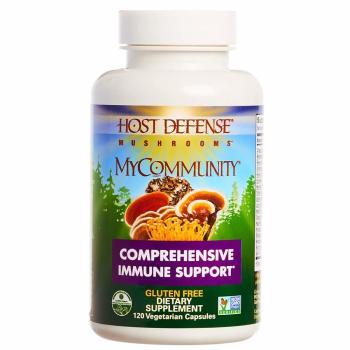 Fungi Perfecti, Host Defense, MyCommunity - 120 Veggie Caps