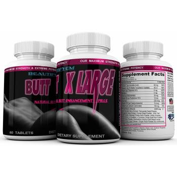BTFM, BUTT X LARGE Butt Enlargement, Booty Enhancement - 60 Tablets