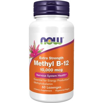 Now Foods, Extra Strength Methyl B-12, 10,000 mcg - 60 Lozenges