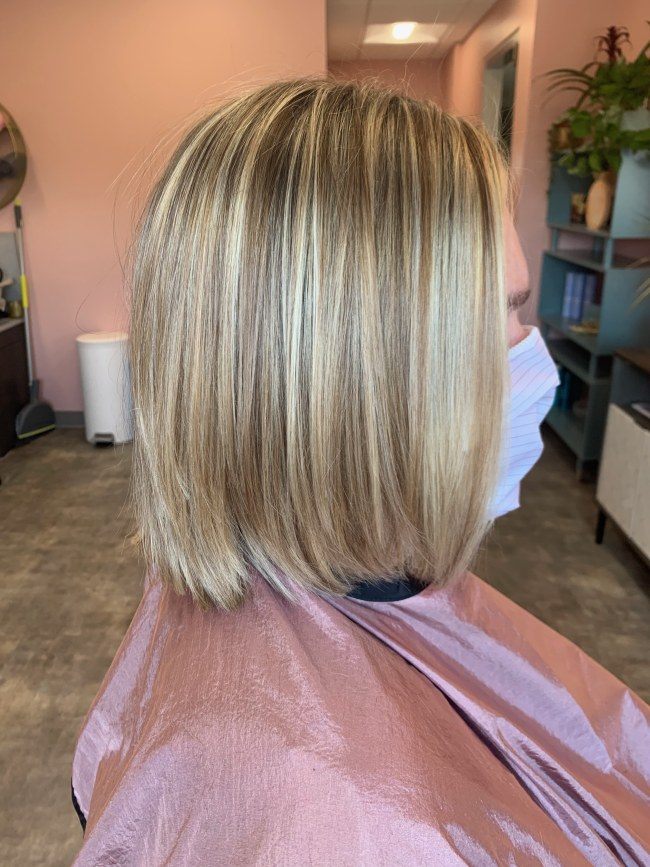 Traditional hair color that showcases highlights and lowlights