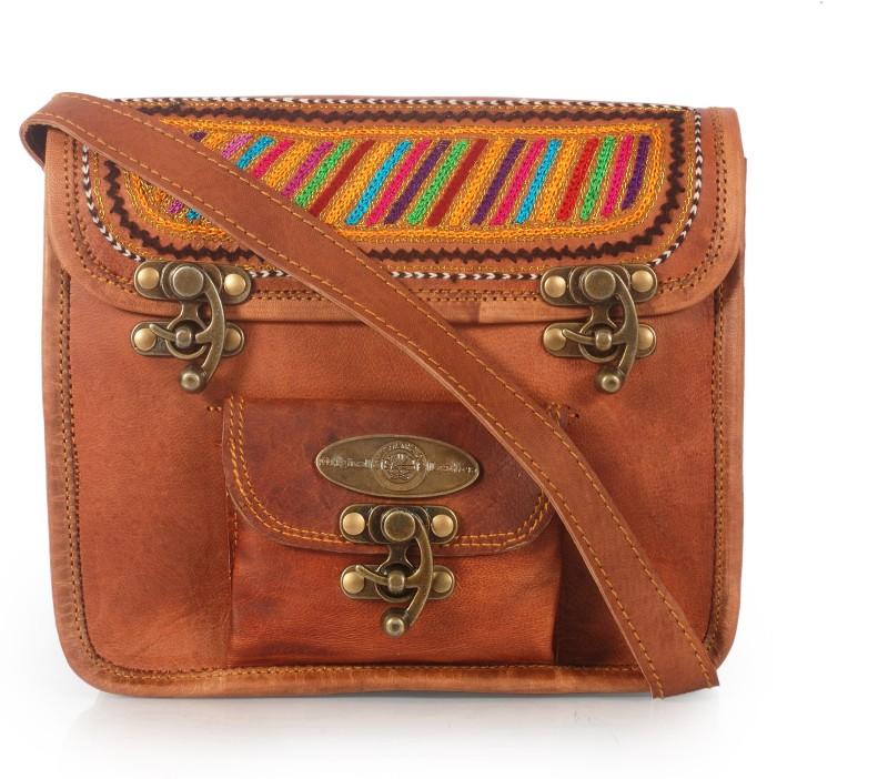 Brown Women Sling Bag Price in India