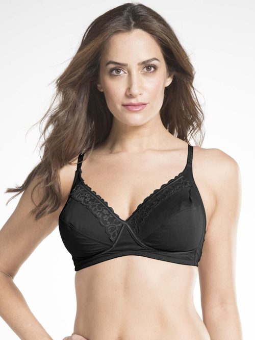 Jockey Black Lace Non Padded Non Wired ES19 Everyday Bra Price in India