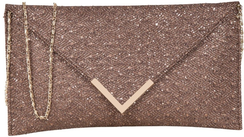 Party Brown  Clutch Price in India