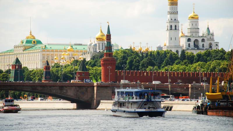 Moskva med Kreml samt båttur