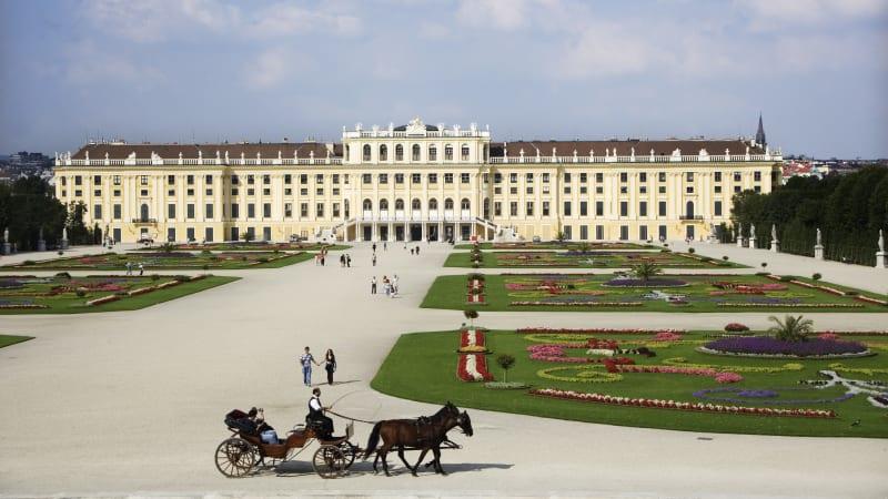 Schönbrunn. Flyg hem från Wien